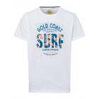 Herren T-Shirt Gold Coast, weiss, Rundhals