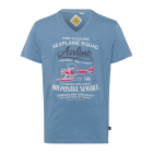 T-Shirt Outback Airline, jeans, scollo a V