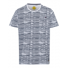 Men's T-Shirt Road Rush Stripes, white / navy,
