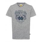 Men's T-Shirt Motorcyclist, gray, round neck