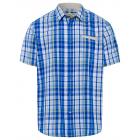 Men's short sleeve shirt Urban Check, royal /