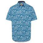 Men's shirt Palm Beach, white / blue / orange