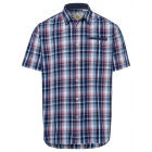 Men's Shirt Checked Waves, blue