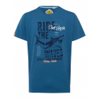 T-Shirt hombre Ride the Waves, azul