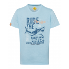 T-Shirt de hombre Ride the Waves, azul claro