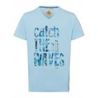 T-Shirt Catch the Waves, blu chiaro