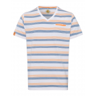 Men's T-Shirt Stripes Summer, white / blue / o