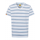 Men's T-Shirt Stripes Summer, white / blue / l