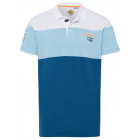 Men's polo shirt Summer Waves, navy / white /