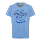 T-Shirt de hombre Down Under, royal, cuello redond