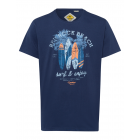 T-Shirt Homme Red Rock Beach, bleu marine, col ron