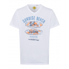 Men's T-Shirt Sunrise Beach, white, V-neck