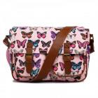 Women's handbag A4 postman Butterflies Glitter