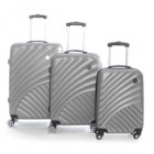 Suitcase Set of 3 Unisex SANTONI SILVER 011 SET OF