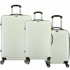Suitcase Set of 3 Unisex SLIDER WHITE NEW 011