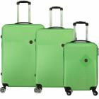 Suitcase Set of 3 Unisex SMOKEY F-GREEN NEW 011