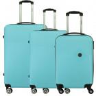 Suitcase Set of 3 Unisex SMOKEY LIGHT BLUE NEW 011
