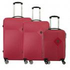 Suitcase Set of 3 Unisex SMOKEY BURGUNDY NEW 011