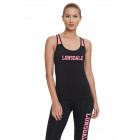 LONSDALE - T-shirt Lonsdale - Nero / fuxia fluo