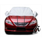 Car cover / cover half with special pockets for th