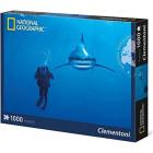 Clementoni - 39303 Whitetip Shark Puzzle 1000 pcs