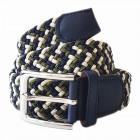 Unisex intrecciato cintura intrecciata Blu Verde M