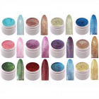 12 x UV color gel glitter effect Gel Set Finger Na