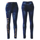Sexy Ladies jeggings Leggings jean regardent avec
