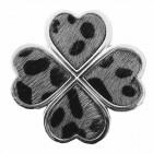 Magnete Spilla Pin Clover Grigio pelliccia