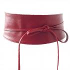 Ceinture pour femme avec ceinture en cuir rouge fo