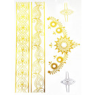 Body Tattoo Gold Metallic Accssoires jewelry chain