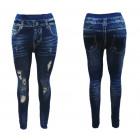 Jeaggings leggings trousers jeans with cracks opti