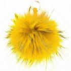 XXL vera pelliccia borse bobble rimorchio giallo