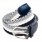 Unisex Braided Belt Belt Gray White Blue