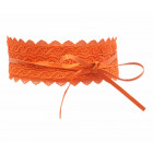 Women's belt waist belt wrap lace orange