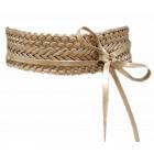 oro Cintura in pelle avvolgente cintura intrecciat