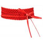 Cintura involucro Cintura in pelle intrecciata ros