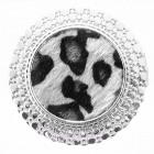 Magnete Spilla Pin Circle Leo Fur Grey
