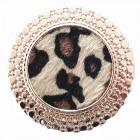 Magnete Spilla Pin Cerchio Leo Fur Nudo