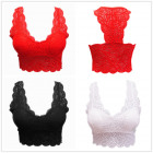 Lace bra bustier padded push up lingerie top