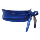 Damen Leder Ceinture Wrap Ceinture Royale Bleu