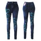Thermo ghette Jeggings Jeans ottica farfalla