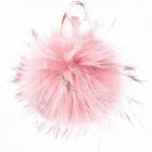 XXL vera pelliccia borse bobble catena rosa