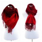 Sciarpa panno inverno plaid del Capo Donne Rosso X