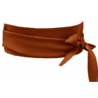 Damen Leder Ceinture Wrap Ceinture marron