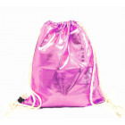 Gym bag hipster pink metallic