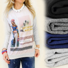 K209 CHARMING SWEATSHIRT, MAKE A DIFFERENCE PRINT