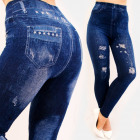 SOF43 Cotton Women Leggings Jeans with Print