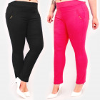 C17653 Comfortable Pants, Plus Size, Gold Decorati