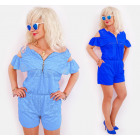 BI741 Lace women Overalls with shorts and zip